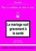 Le Mariage nuit gravement à la santé à la Comédie République