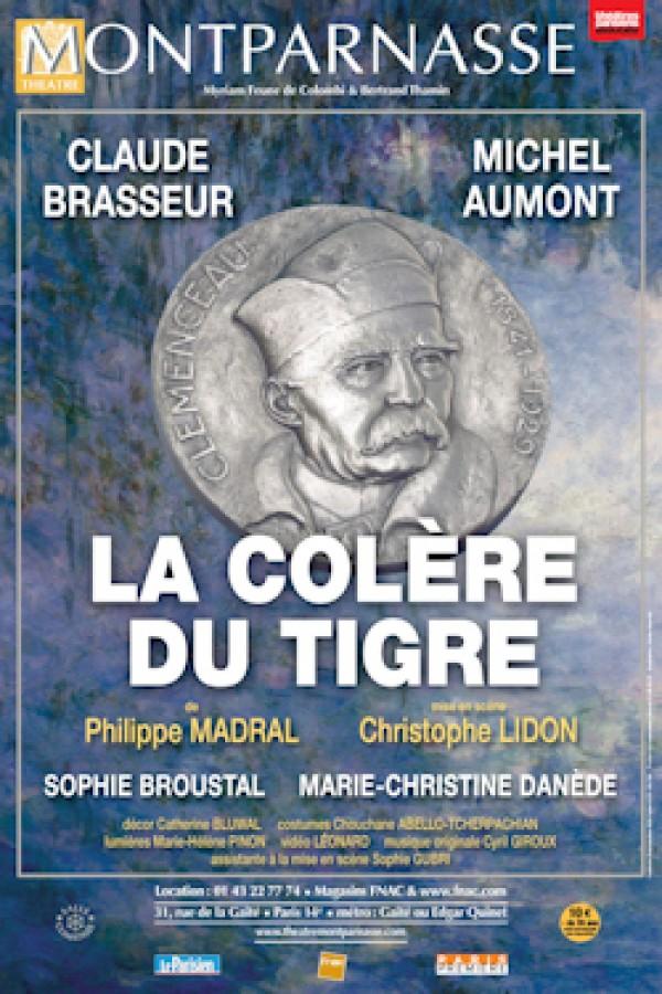 La Colère du Tigre au Théâtre Montparnasse, avec Claude Brasseur et Michel Aumont