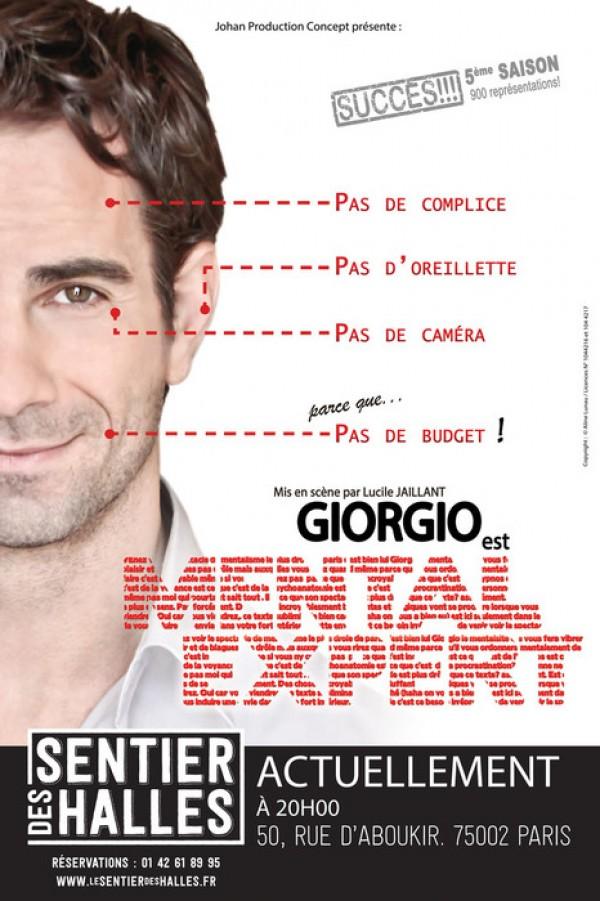 Giorgio, le mentaliste au Sentier des Halles