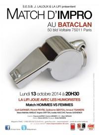 Match d'impro de la LIFI au Bataclan
