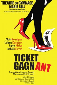 Ticket gagnant au Théâtre du Gymnase