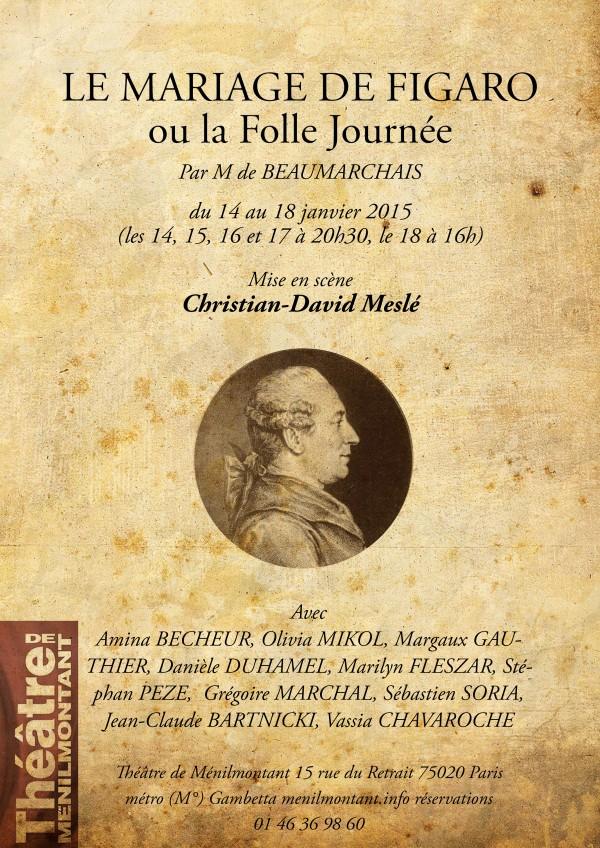 le mariage de figaro ou la folle journe au thtre de mnilmontant - Piece De Theatre Le Mariage De Figaro