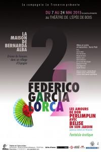 Affiche Federico Garcia Lorca au Théâtre de l'Épée de Bois