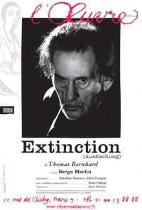 Extinction au Théâtre de l'Œuvre avec Serge Merlin