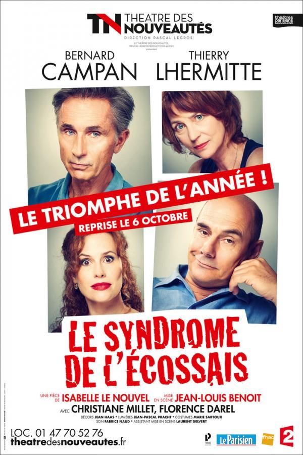 Le Syndrome de l'Écossais au Théâtre des Nouveautés : reprise rentrée 2016