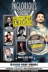 Inglorious Comedy Club au Grand Point Virgule