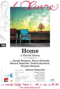 Home au Théâtre de l'Œuvre, avec Carole Bouquet et Pierre Palmade