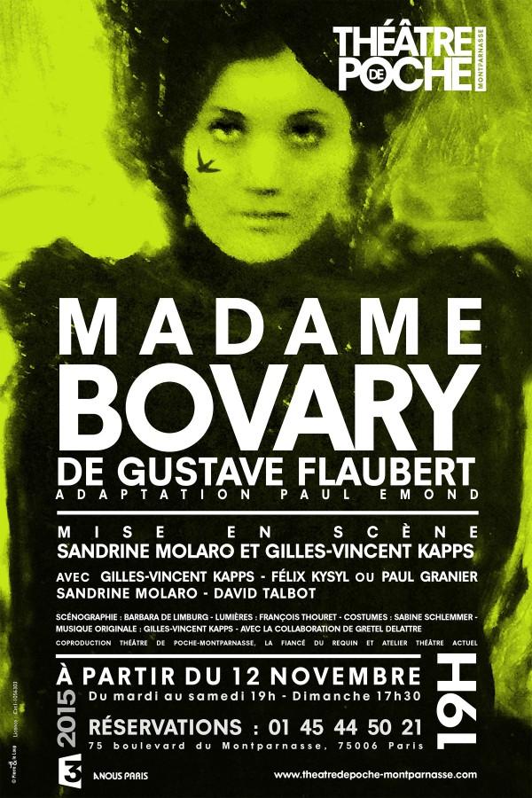 Madame Bovary au Théâtre de Poche