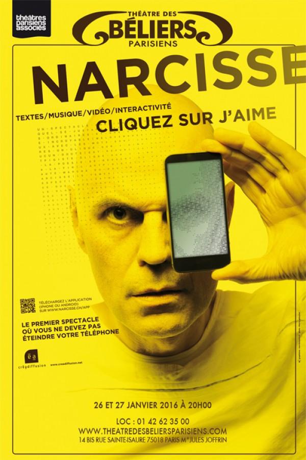 Narcisse, cliquez sur j'aime au Théâtre des Béliers Parisiens