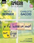 Je t'ai laissé un mot sur le frigo au Théâtre de Paris